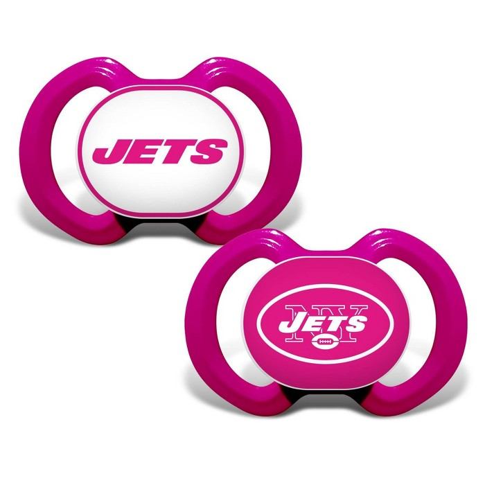 NFL New York Jets Pink Pacifiers 2pk - image 1 of 1