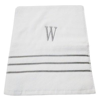 Monogram Hand Towel W - White/Skyline Gray - Fieldcrest®