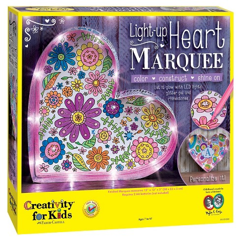 Creativity™ for Kids Light-Up Heart Marquee Craft Kit - image 1 of 4