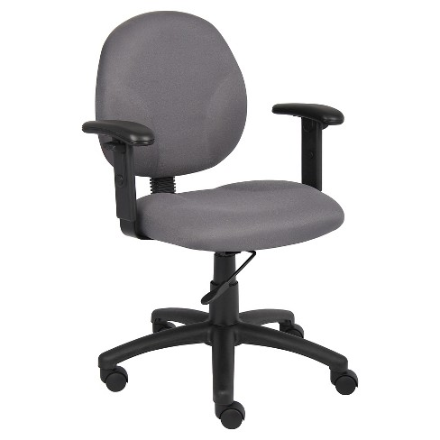 Diamond Task Chair in with Adjustable Arms Gray - Boss Office Products - image 1 of 1