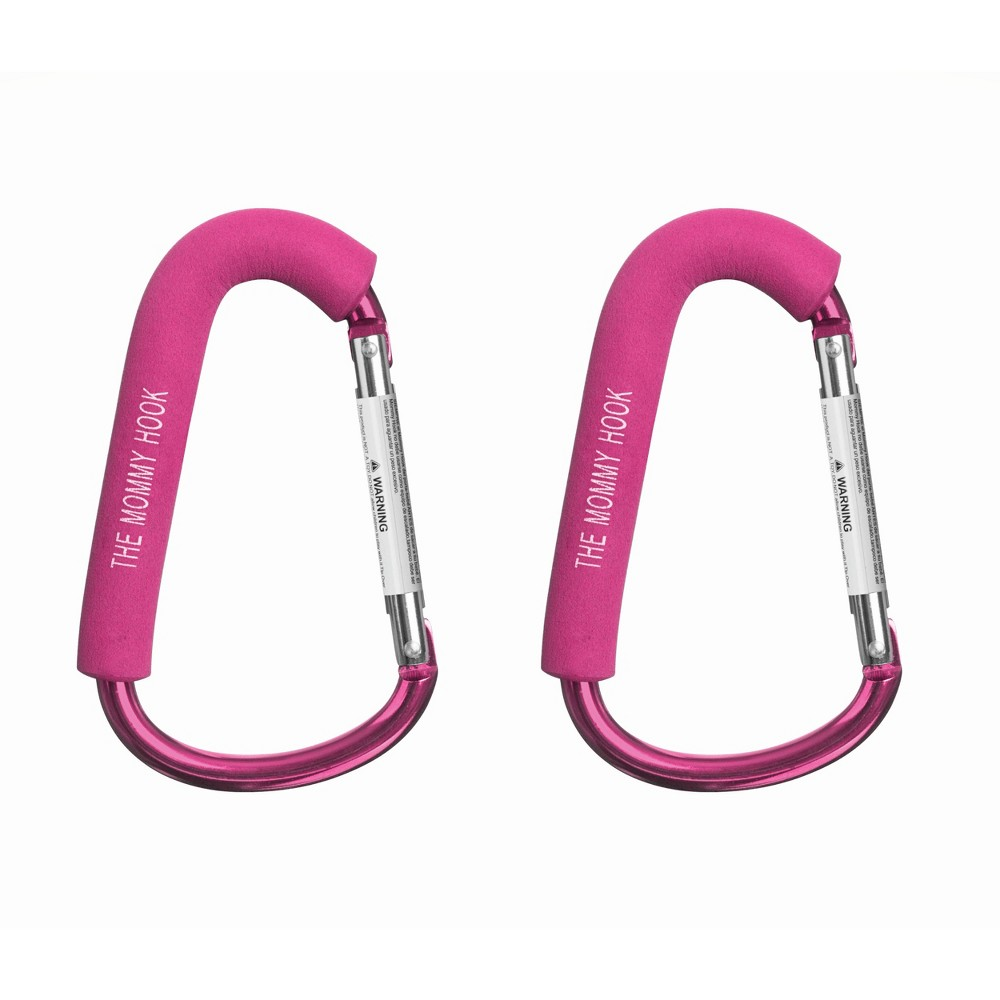 Image of Mommy Hook Stroller Accessory - 2pk Pink