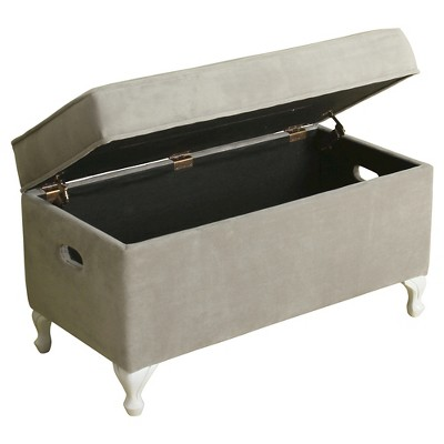 Diva Decorative Storage Bench Kids Storage Ottoman Dove Gray   Homepop :  Target