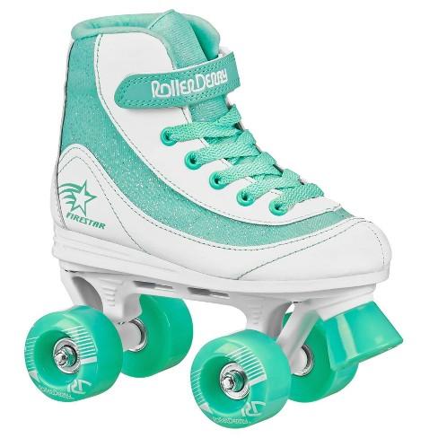 Roller Derby FireStar Youth Girl's Roller Skate - White/Mint - image 1 of 4