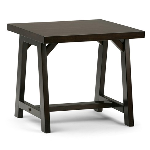 Sawhorse End Side Table - Dark Chestnut Brown - Simpli Home - image 1 of 6