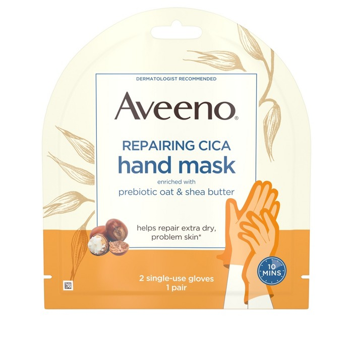 Aveeno Repairing Cica Oat And Shea Butter Hand Mask - 1ct : Target