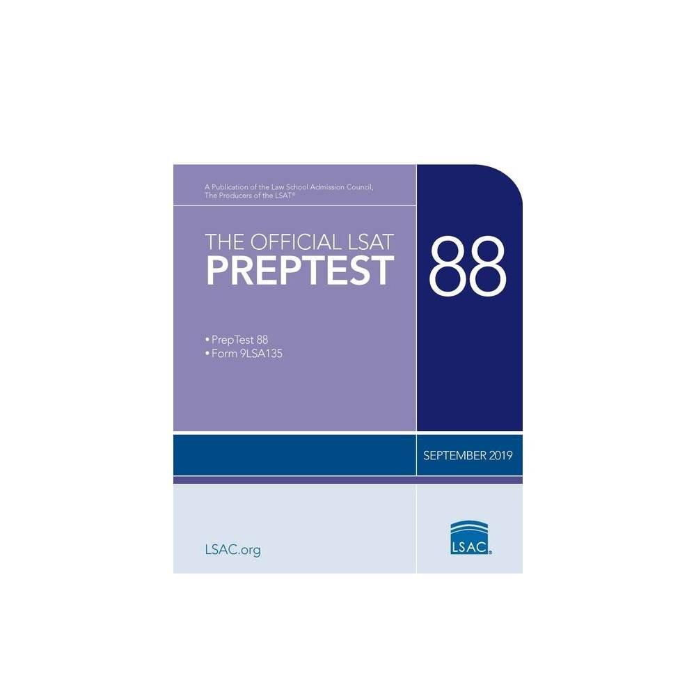The Official LSAT Preptest 88 - (Official LSAT PrepTest) by Law School Council (Paperback)