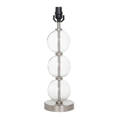 Large Stacked Clear Glass Ball Table Lamp Base (Includes Energy Efficient Light Bulb)Nickel - Threshold™