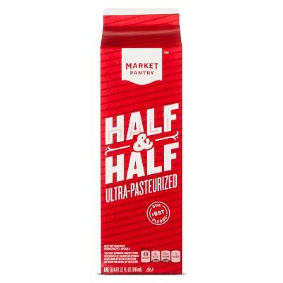 Half & Half - 1qt - Market Pantry™
