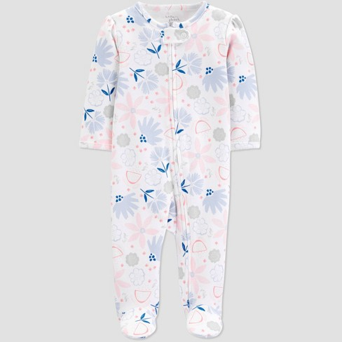 be7cd58e98e5 Little Planet Organic By Carter s Baby Girls  Footed Sleeper - Pink ...
