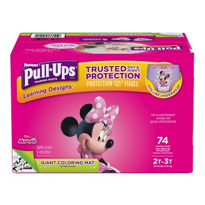 Huggies Pull-Ups Girls Learning Designs Training Pants - Size 2T-3T (74ct)