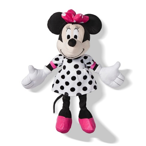 Mickey Mouse & Friends Minnie Mouse Throw Pillow Pink/White - image 1 of 4