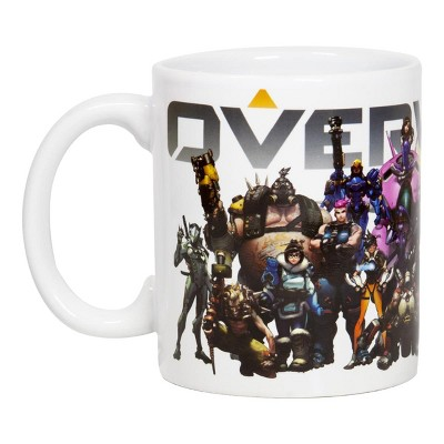 Surreal Entertainment Overwatch Mug | Overwatch Characters and Logo Mug | Collector's Edition