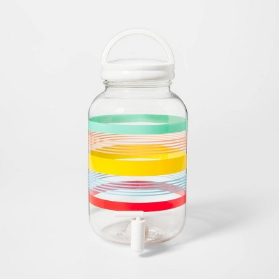 4.3L Plastic Variegated Stripe Beverage Dispenser - Sun Squad™