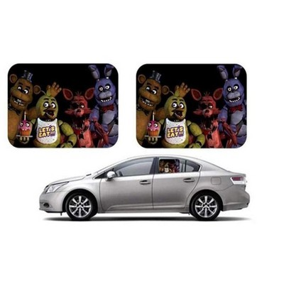 Just Funky Five Nights at Freddy Side Window Auto Sunshades - 2 Pieces
