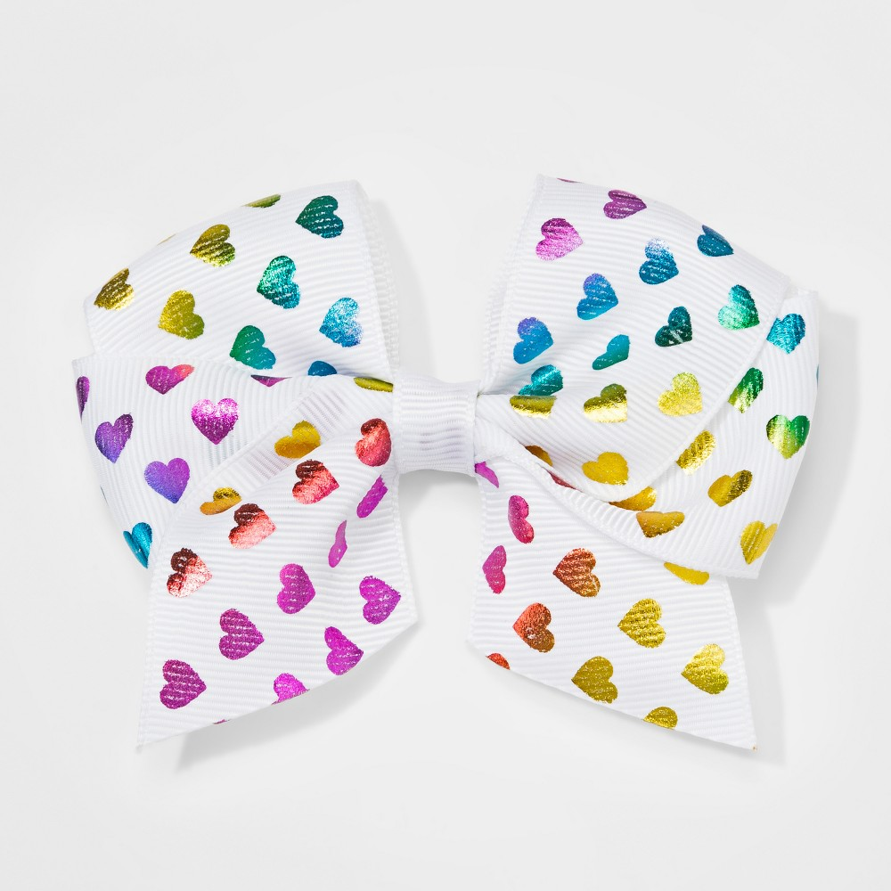 Pleasant Girls Rainbow Heart Bow Salon Clip Cat Jack White Andrewgaddart Wooden Chair Designs For Living Room Andrewgaddartcom