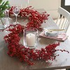 """72"""" x 6.5"""" Artificial Mistletoe Berries Garland Red - Threshold™ - image 2 of 2"""