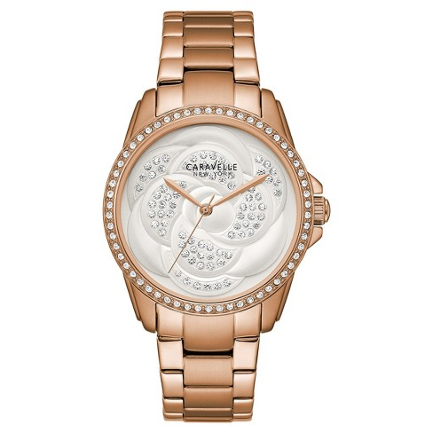 Women's Caravelle New York Analog Watch - Gold - image 1 of 3