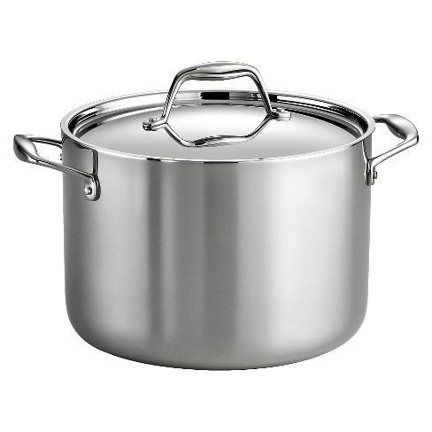 Tramontina Gourmet Tri-Ply Clad Induction-Ready Stainless Steel 8 QT Covered Stock Pot - image 1 of 2