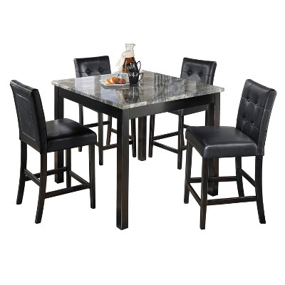 Attirant Dining Table Set Black   Signature Design By Ashley