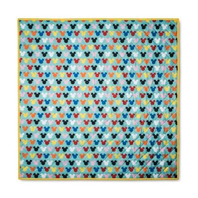 Disney Mickey Mouse & Friends Aqua Mickey Mouse Design Picnic Blanket