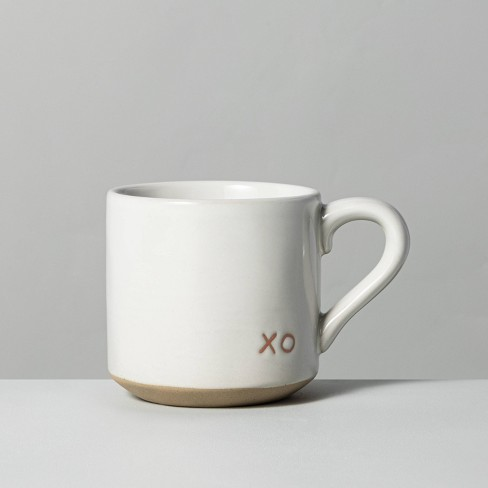 'XO' 17oz Stoneware Mug Pink - Hearth & Hand™ with Magnolia - image 1 of 3