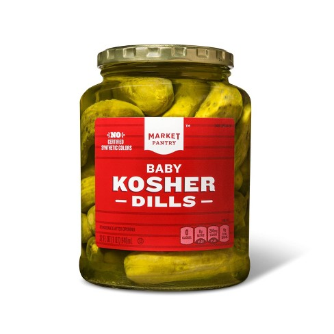 Kosher Baby Dill Pickles - 32oz - Market Pantry™ - image 1 of 2