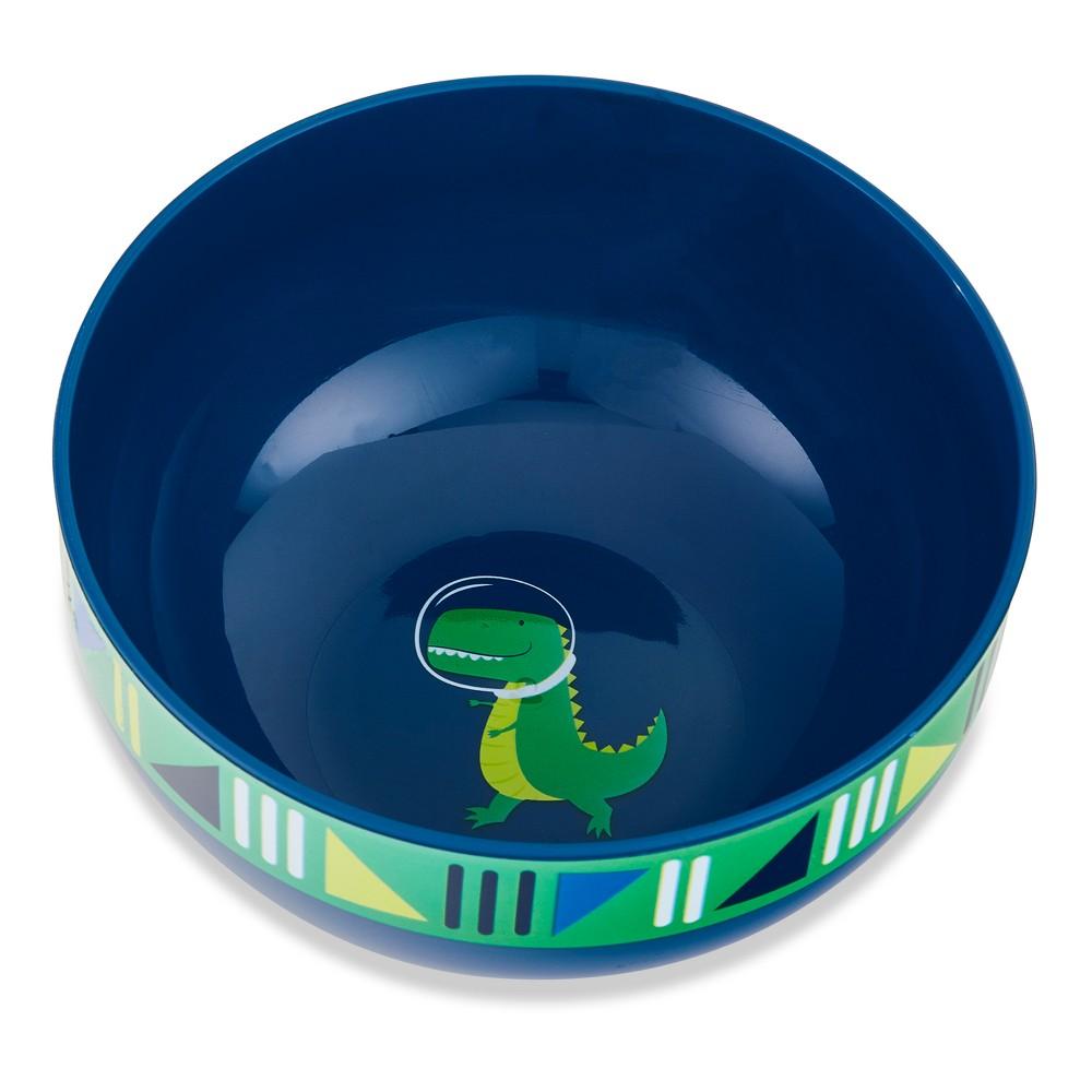 Image of Cheeky Plastic Kids Bowl 10oz Space Dinosaur - Blue/Green