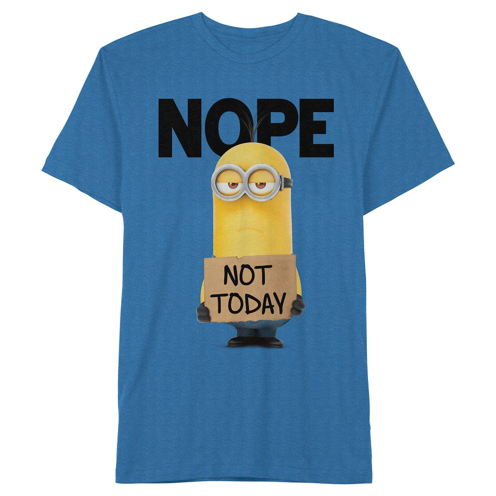 Men's Despicable Me Minions Nope Not Today T-Shirt - Royal Blue XL