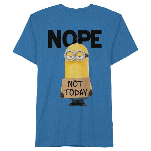 Men's Minions Nope Not Today T-Shirt Royal Blue - image 1 of 1