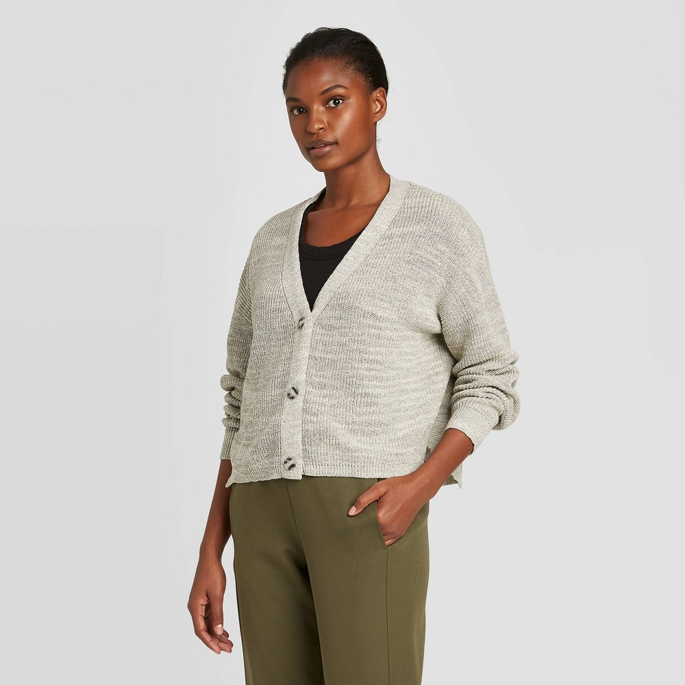 Women's Long Sleeve V-Neck Cardigan - Prologue Gray XXL, Women's was $32.99 now $23.09 (30.0% off)