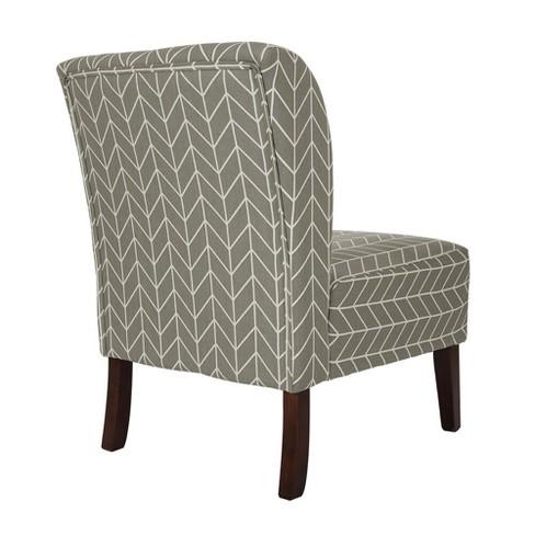 Herringbone Upholstered Accent Chair Gray Glitzhome Target