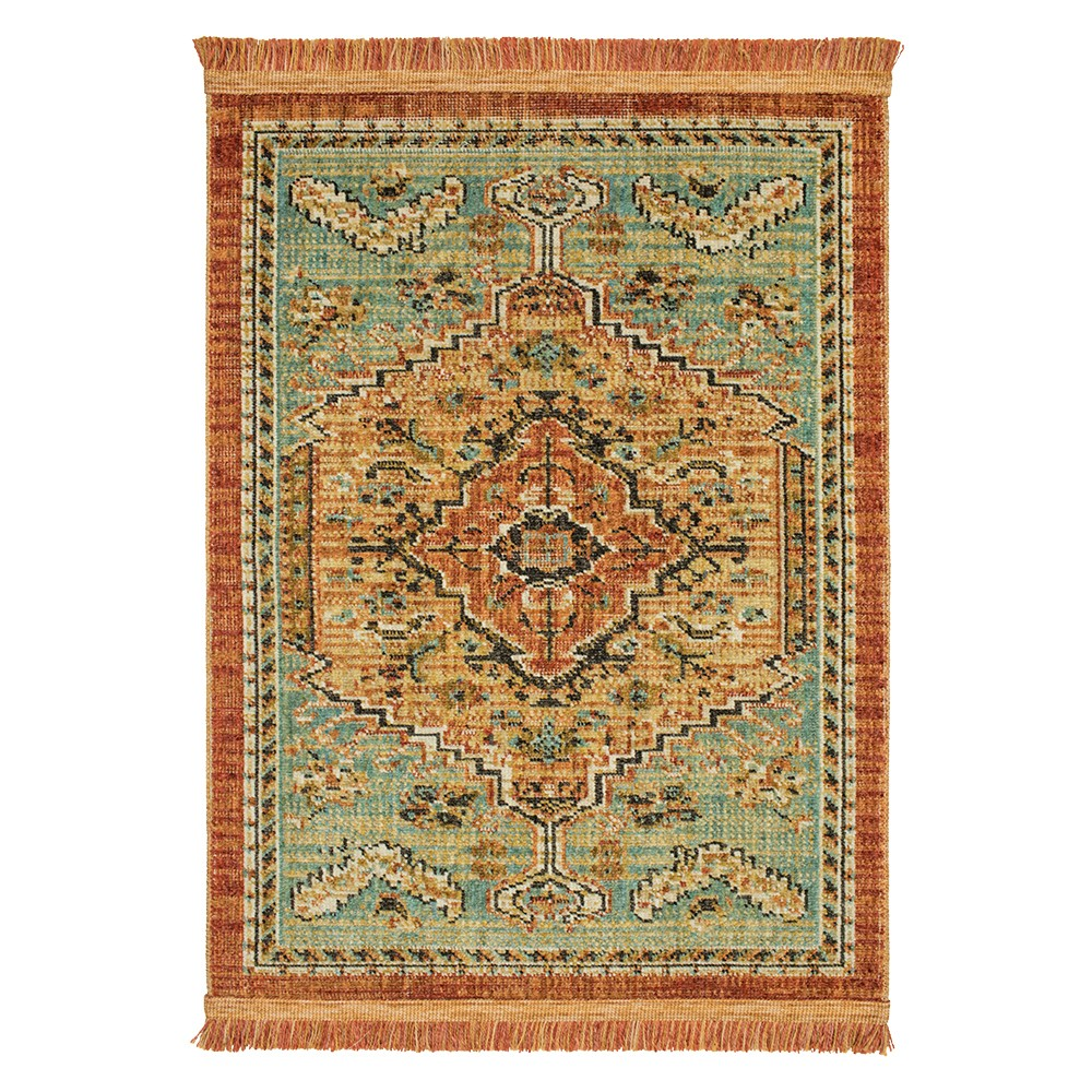 Spiced Green Floral Woven Area Rug 10'x12' - Threshold