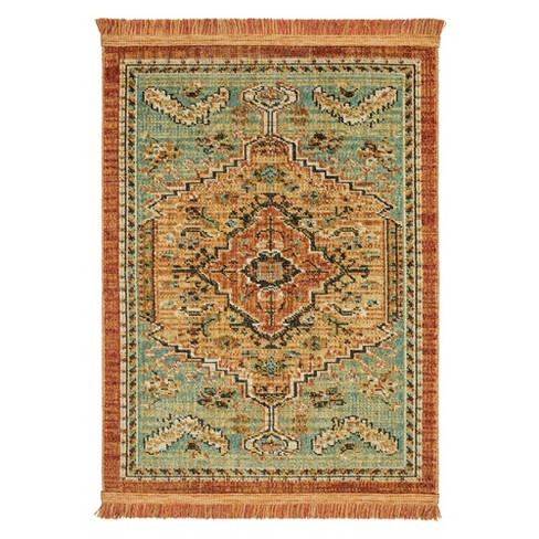 Spiced Green Floral Woven Area Rug 10 X12 Target
