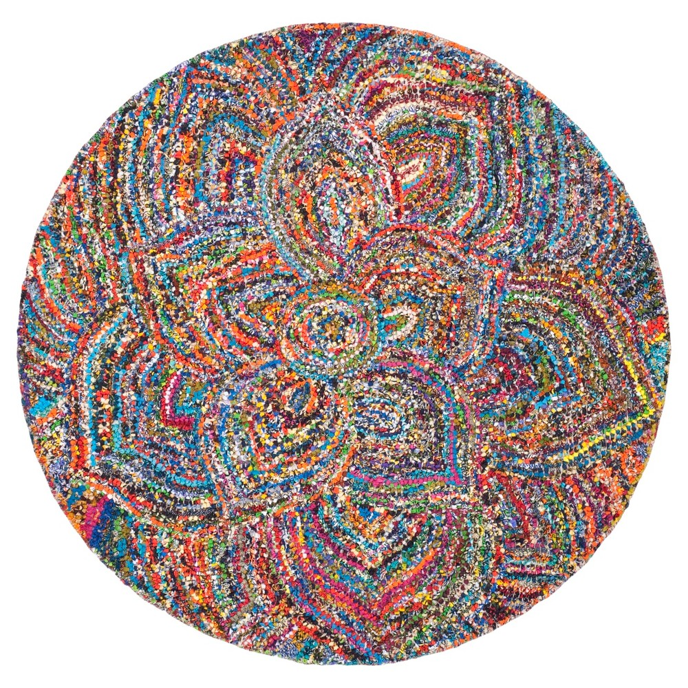 Multicolor Abstract Tufted Round Area Rug - (6' Round) - Safavieh, Multicolored