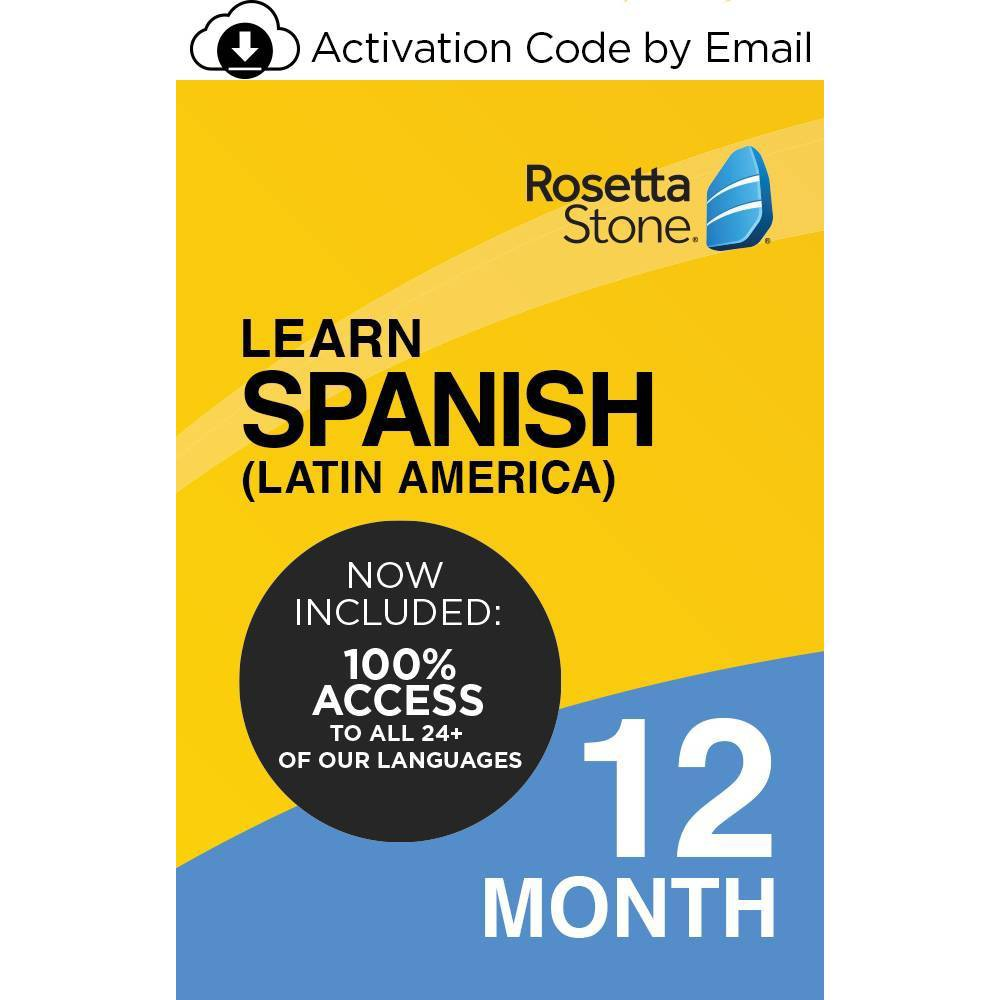 Rosetta Stone Spanish Unlimited 12 Months Electronic Software Download