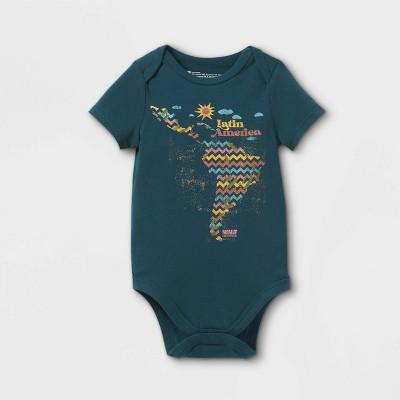 Latino Heritage Month Baby Latin America Bodysuit - Navy