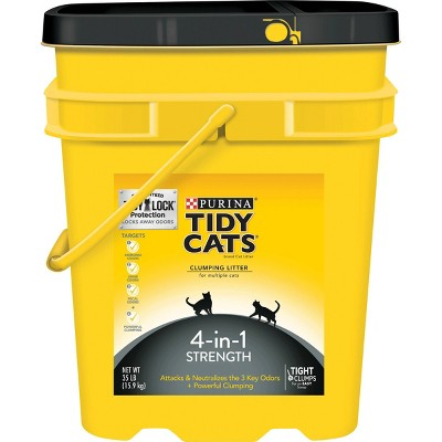Purina Tidy Cats 4-in-1 Strength Multi-Cat Clumping Litter - 35lbs