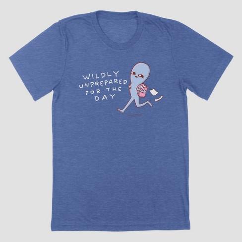 Men's Strange Planet Wildly Unprepared Short Sleeve Crewneck T-Shirt - Heather Blue - image 1 of 1