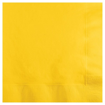 50ct School Bus Yellow Disposable Napkins