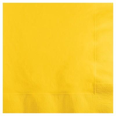 50ct School Bus Yellow Disposable Napkins