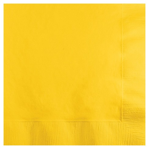 50ct School Bus Yellow Disposable Napkins - image 1 of 2