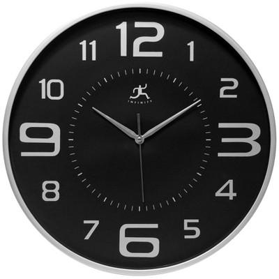 Tux 18  Wall Clock Black - Infinity Instruments