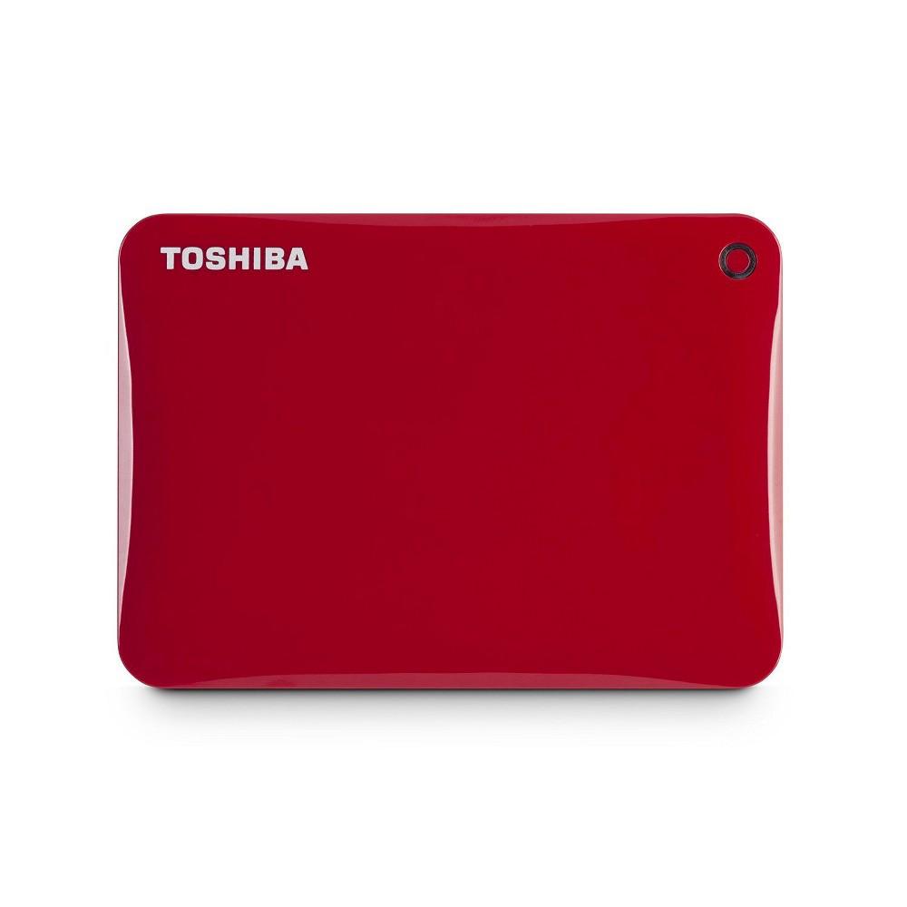 Toshiba Canvio Connect II 3TB Hard Drive - Red (HDTC830XR3C1)