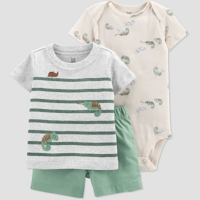 Baby Boys' Chameleon Top & Bottom Set - Just One You® made by carter's Green 3M