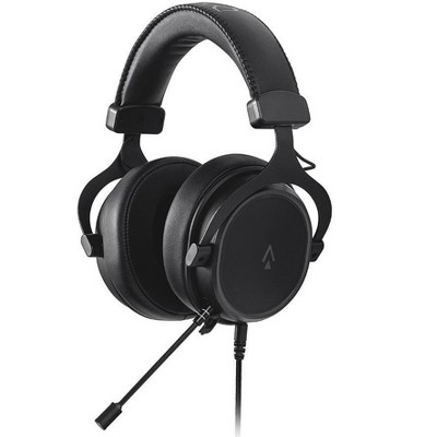 Monoprice Supernova Universal 3.5mm Gaming Headset - 53mm Driver, Detachable Unidirectional Mic, PU Leather/Aluminum, Compatible with PC, Consoles,