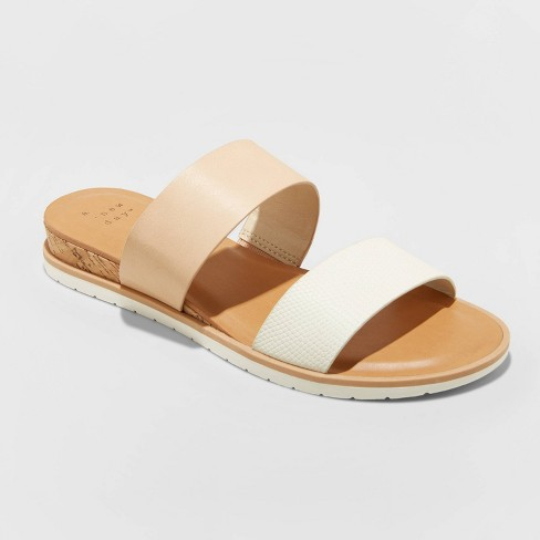 Women's Coco Two Band Slide Sandals - A New Day™ - image 1 of 3