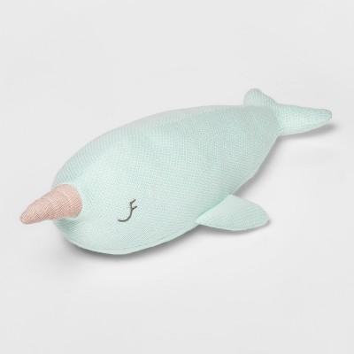 Narwhal Figure Throw Pillow Green - Pillowfort™