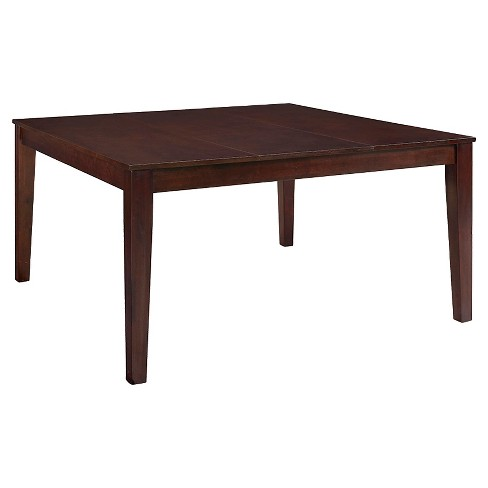 "60"" Cappuccino Wood Square Dining Table - Saracina Home - image 1 of 5"