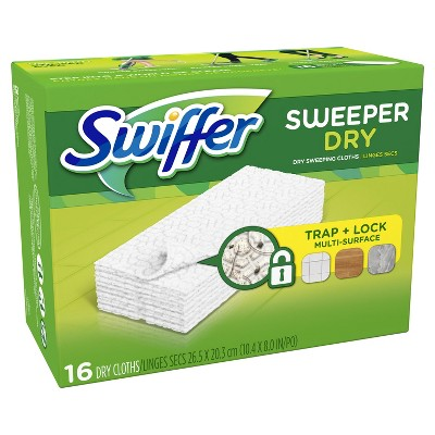 Swiffer Sweeper Dry Sweeping Pad Multi Surface Refills for Dusters floor mop Unscented - 16ct