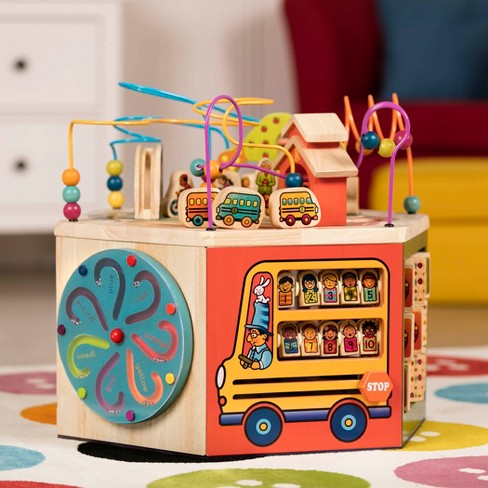 B. toys - Youniversity - Deluxe Wooden Activity Cube - image 1 of 7